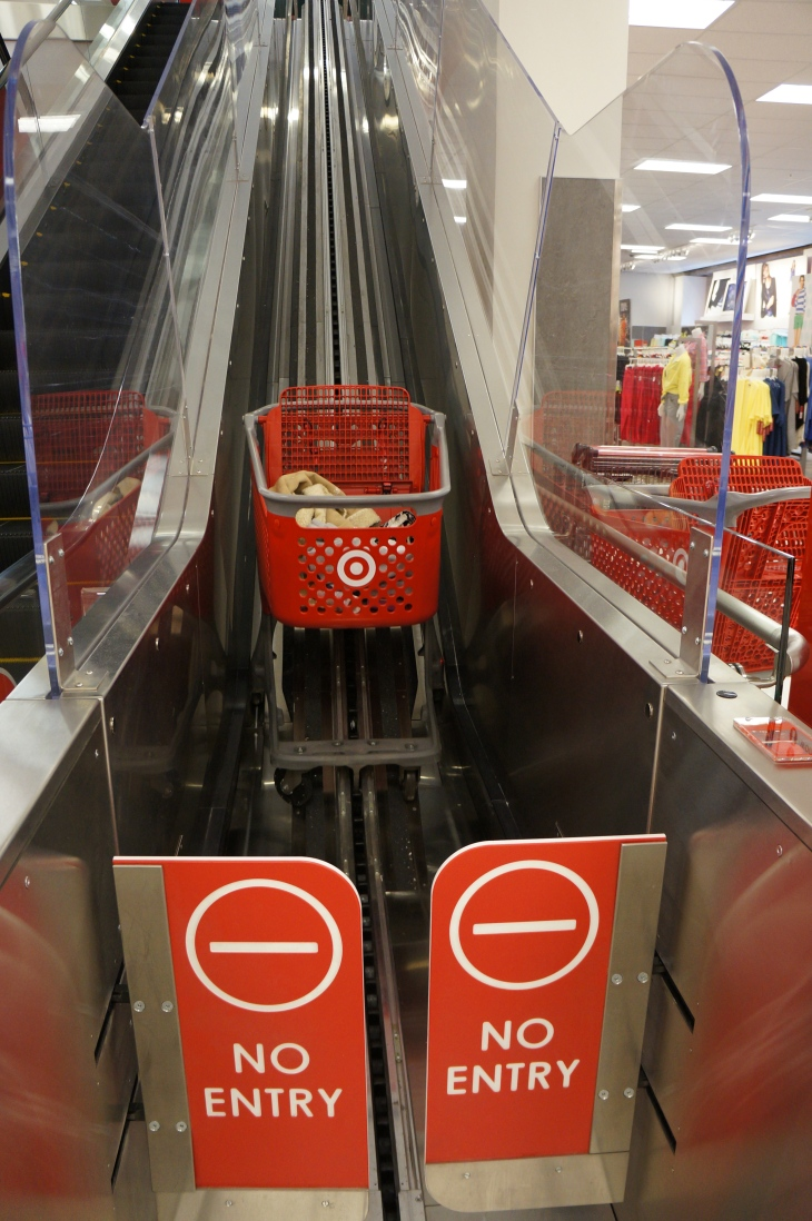Target has buggy escalators!!!
